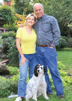 An animal lover at heart, Justine, along with her husband, Michael, loves taking relaxing walks with their cherished English Setter, Chip.